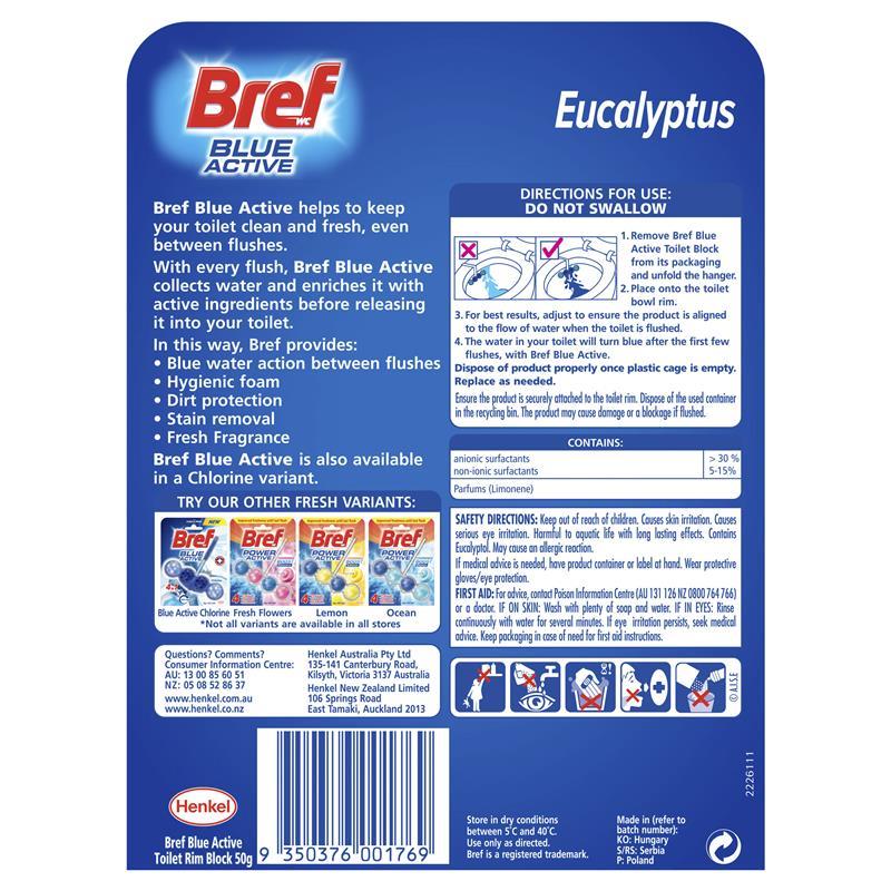 Bref Blue Active Toilet Cleaner Eucalyptus 50g