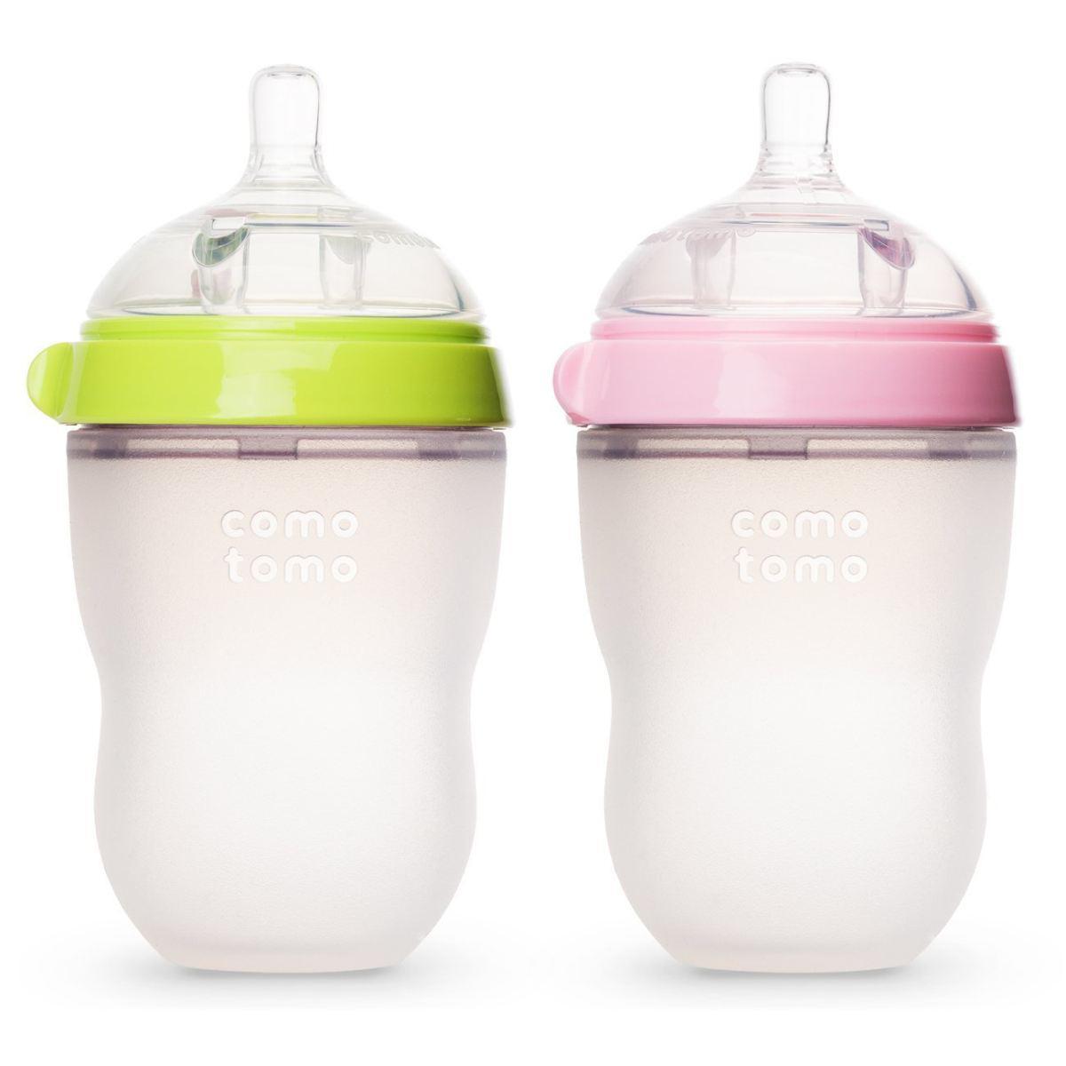 bộ đôi bình sữa silicon dành cho bé
