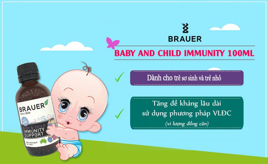 Brauer Hỗ Trợ Hệ Miễn Dịch Cho Trẻ Sơ Sinh & Trẻ Nhỏ - Baby & Child Immunity Support Oral Liquid 100ml