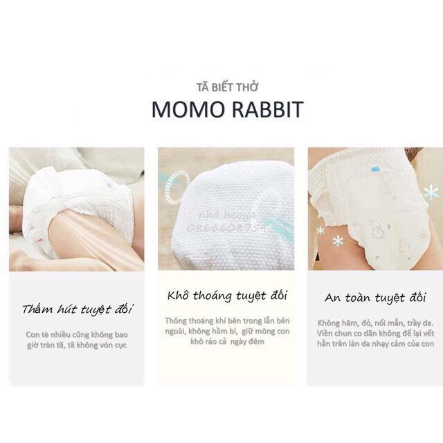 Bỉm dán/ Tã dán Momo Rabbit size M 44 miếng (6-11kg)