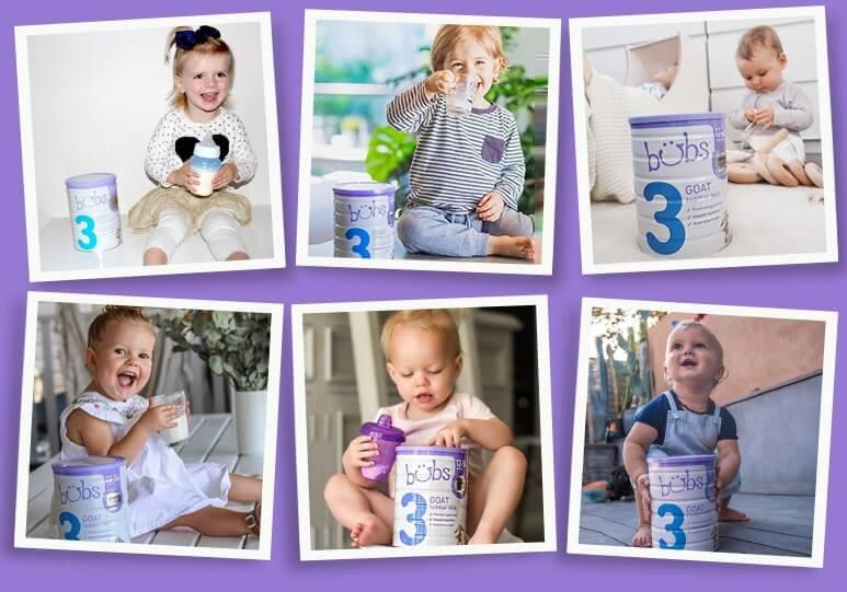 sữa bubs cho trẻ