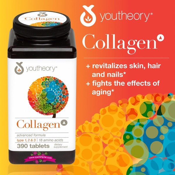collagen youtheory type 1 2 & 3 390 viên