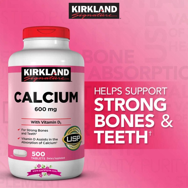 Kirkland Calcium 600mg + Vitamin D3