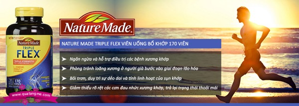 triple flex nature made của mỹ hộp 170 tabs