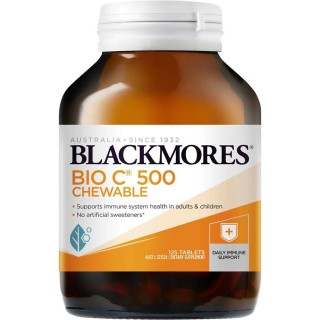 Blackmores Cold Relief Bio C Chewable 500mg 125 Tablets -  Viên nhai bổ sung vitamin C