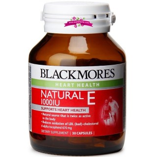 Blackmores Natural Vitamin E 30 Tablets - Viên uống bổ sung vitamin E